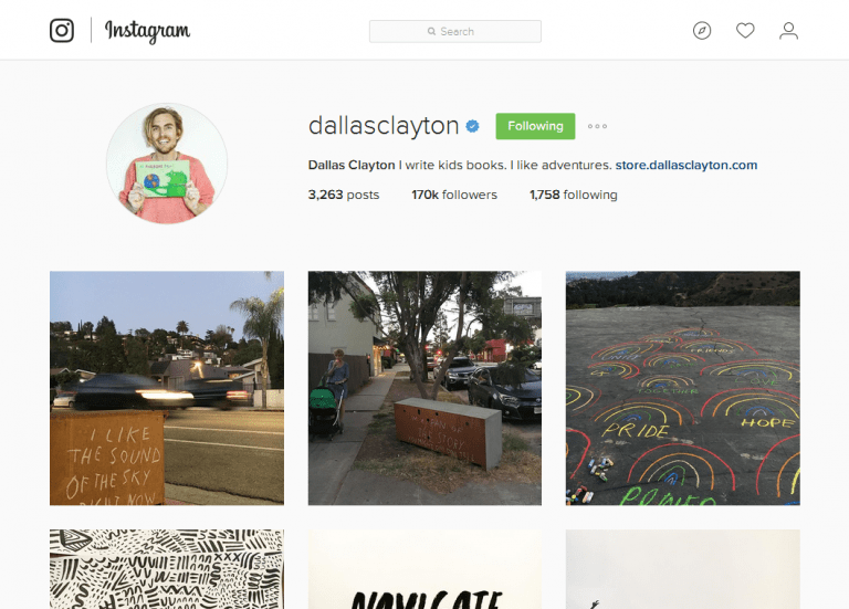 5 Male Instagrammers to Follow - Dallas Clayton