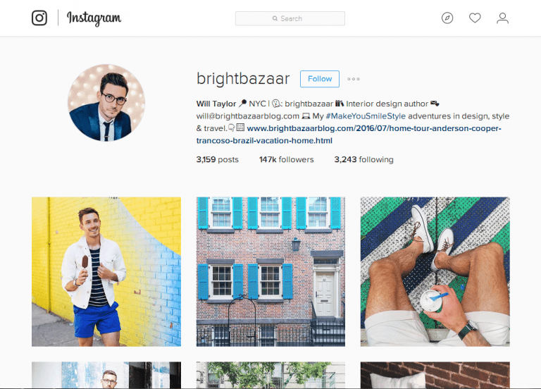 5 Male Instagrammers to Follow - Bright Bazaar