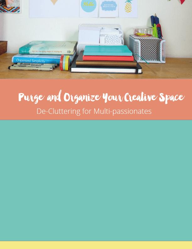 Purge & Organize Your Creative Space